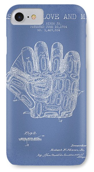 Baseball Glove Patent Drawing From 1924 IPhone Case by Aged Pixel