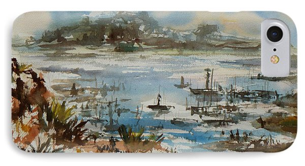 IPhone Case featuring the painting Bay Scene by Xueling Zou