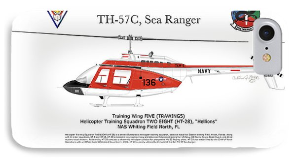Bell Th-57c Sea Ranger IPhone Case by Arthur Eggers