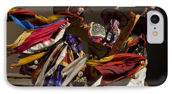 IPhone Case featuring the digital art Bhutanese Festival by Angelika Drake