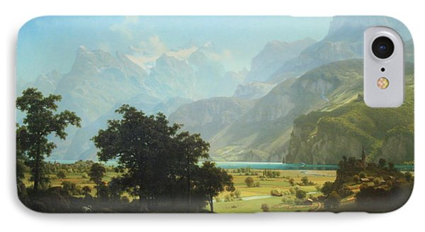 Bierstadt's Lake Lucerne IPhone Case by Cora Wandel