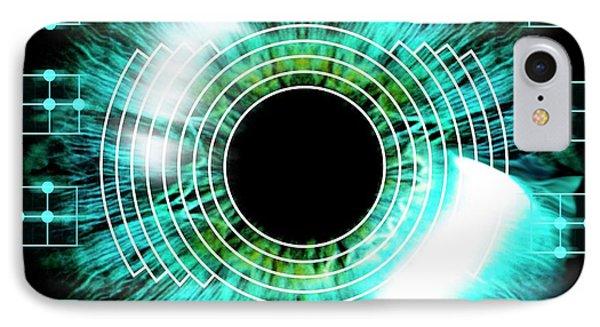 Biometric Eye Scan IPhone Case by Alfred Pasieka