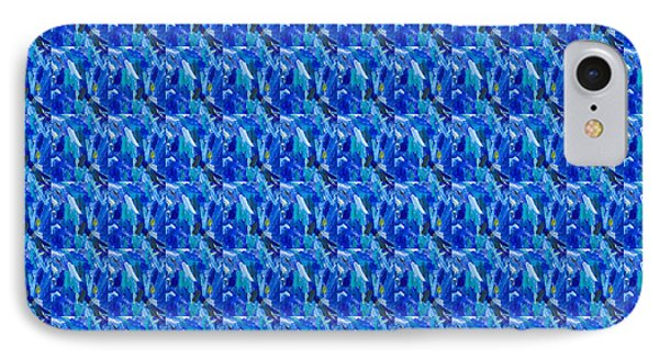 Blue Sparkles Artist Created Images Textures Patterns Background Designs  And Color Tones N Color Sh IPhone Case by Navin Joshi