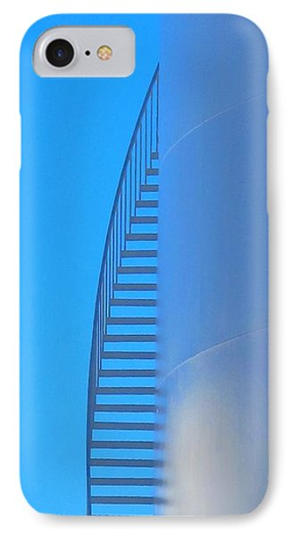 Blue Stairs IPhone Case by John King