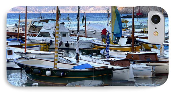 IPhone Case featuring the photograph Boats In The Harbor by Mike Ste Marie