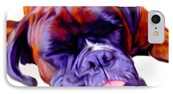 Boxer Dog Art IPhone Case by Iain McDonald