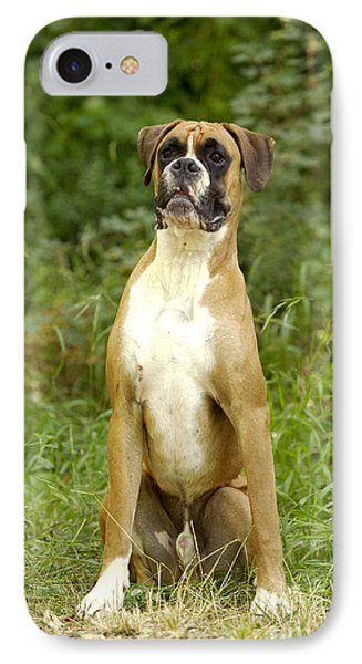 Boxer Dog Phone Case by Jean-Michel Labat