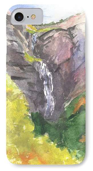 IPhone Case featuring the painting Bridal Veil Falls by Sherril Porter