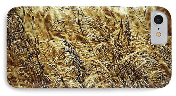 Brome Grass In The Hay Field Phone Case by J McCombie