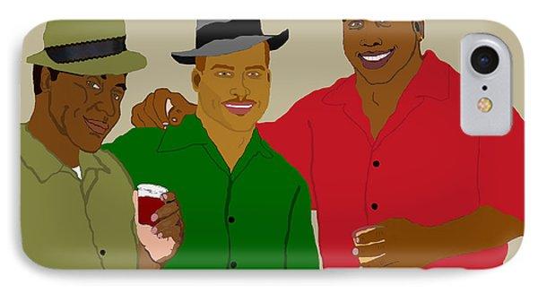 3 Buds Phone Case by Pharris Art