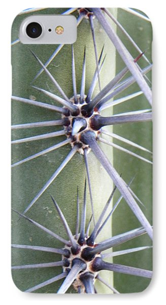 IPhone Case featuring the photograph Cactus Thorns by Deb Halloran