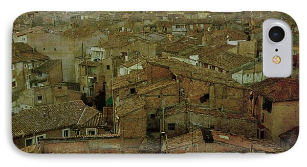 Calahorra Roofs From The Bell Tower Of Saint Andrew Church Phone Case by RicardMN Photography