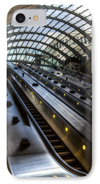Canary Wharf Station IPhone 7 Case by David Pyatt
