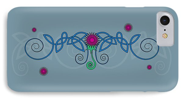 Celtic Thistle IPhone Case by Ireland Calling