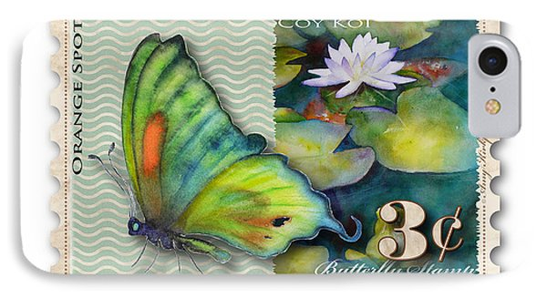 3 Cent Butterfly Stamp IPhone Case