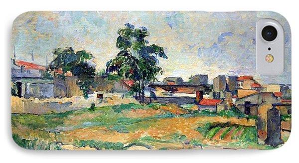 Cezanne's Landscape Near Paris IPhone Case by Cora Wandel