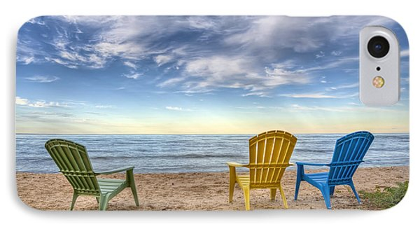 3 Chairs IPhone Case by Scott Norris