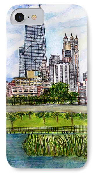 Chicago Skyline IPhone Case by Janet Immordino