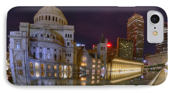 Christian Science Center-boston IPhone Case by Joann Vitali