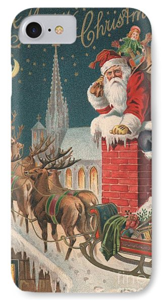 Christmas Card IPhone Case by English School