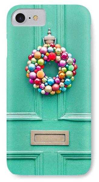 Christmas Wreath IPhone Case by Tom Gowanlock