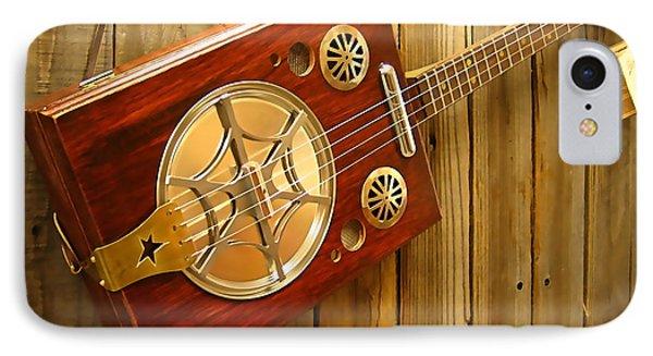 Cigar Box Guitar  IPhone Case by Marvin Blaine