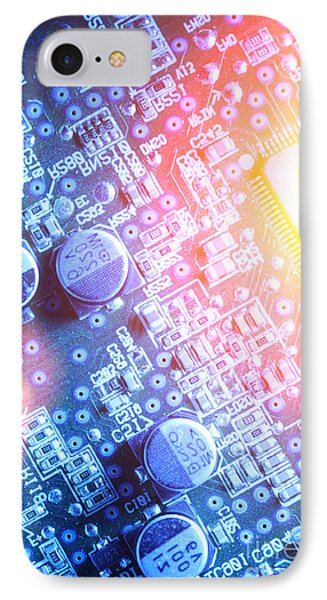 Circuit Board Abstract Phone Case by Konstantin Sutyagin