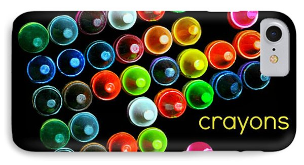 Colorful Wonderful Crayons Phone Case by Diana Angstadt