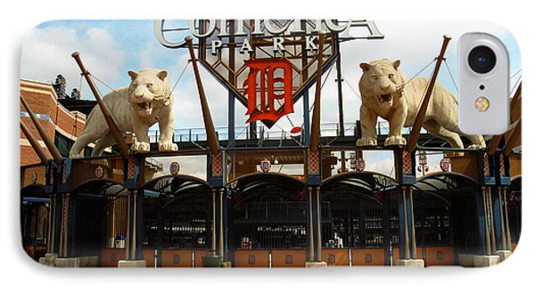 Comerica Park - Detroit Tigers Phone Case by Frank Romeo