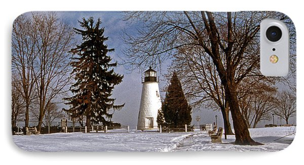 Concord Point Lighthouse Phone Case by Skip Willits