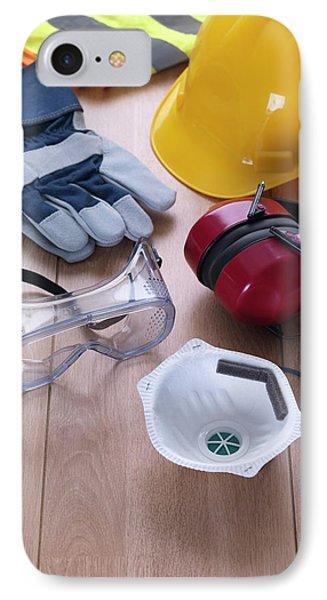 Construction Safety Equipment IPhone Case by Tek Image