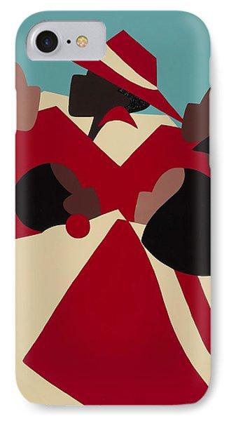 Crimson And Cream IPhone Case