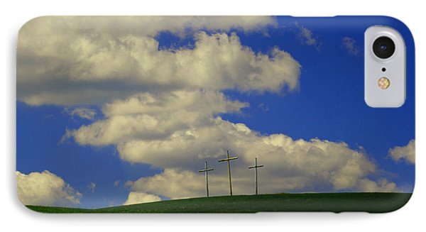 3 Cross Hill IPhone Case by Melissa Petrey