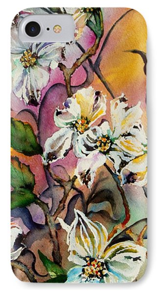 Dance Of The Dogwoods IPhone Case by Lil Taylor