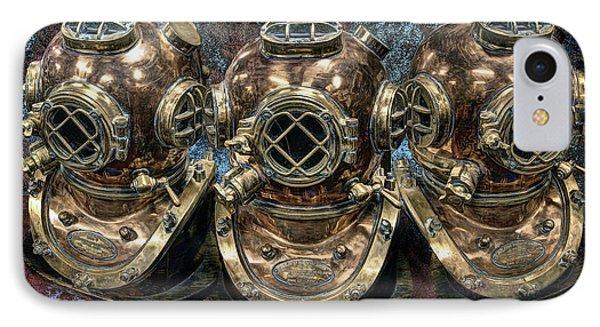 3 Deep-diving Helmets IPhone Case by Daniel Hagerman