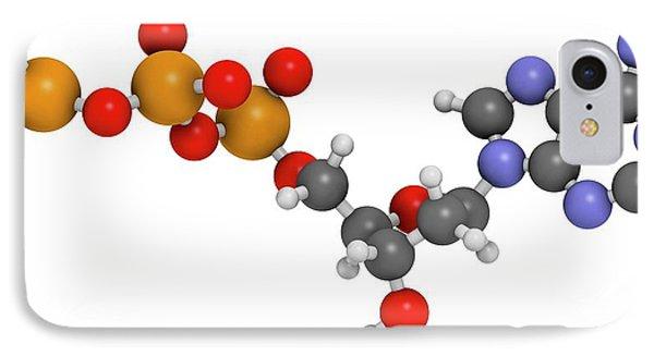 Deoxyadenosine Triphosphate Molecule IPhone Case by Molekuul