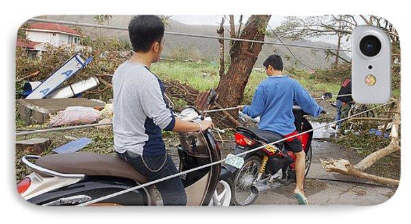 Destruction After Super Typhoon Haiyan IPhone Case by Jim Edds