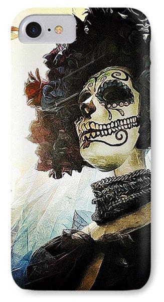 Dia De Los Muertos Phone Case by Natasha Marco