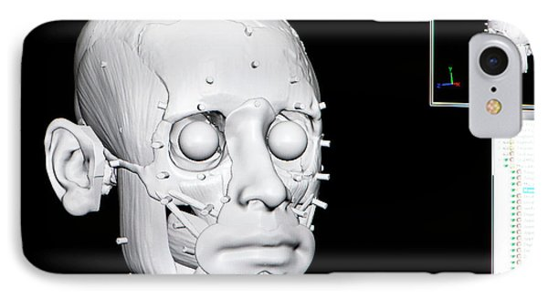 Digital Forensic Facial Reconstruction IPhone Case by Louise Murray
