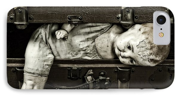 Doll In Suitcase Phone Case by Joana Kruse