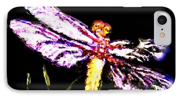 IPhone Case featuring the painting Dragonfly by Daniel Janda