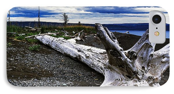 Driftwood On Beach Phone Case by Thomas R Fletcher