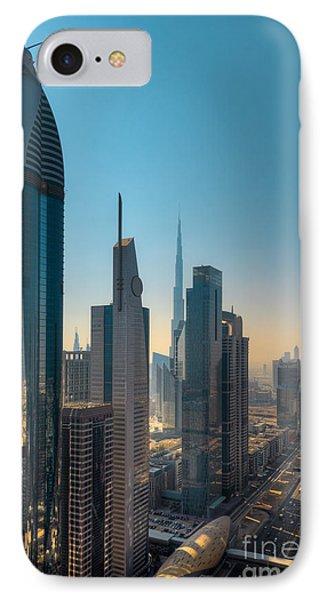 Dubai Skyline Phone Case by Fototrav Print