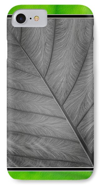 Elephant Ear Leaf Close-up IPhone Case by Charles Feagans