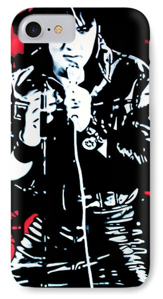 Elvis Phone Case by Luis Ludzska
