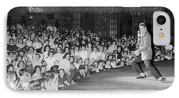 Elvis Presley In Concert At The Fox Theater Detroit 1956 IPhone 7 Case by The Harrington Collection