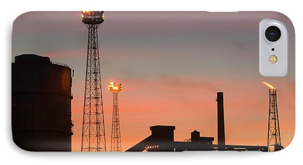 Emissions From The Corus Steelworks IPhone Case by Ashley Cooper