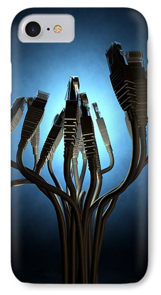 Ethernet Abstract Silhouettes IPhone Case