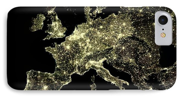 Europe At Night IPhone Case by Planetobserver