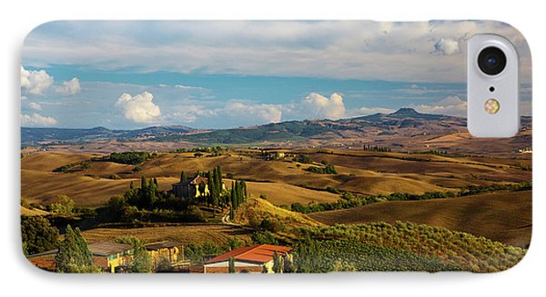 Europe, Italy, Tuscany, San Quirico IPhone Case by Terry Eggers